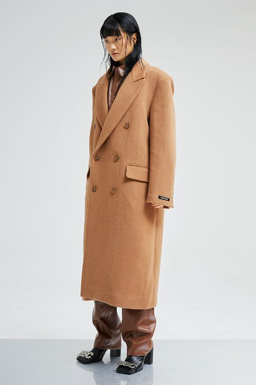 Over size double coat (camel)