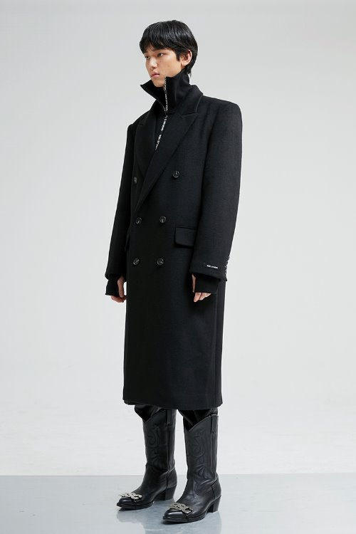Over size double coat (black)